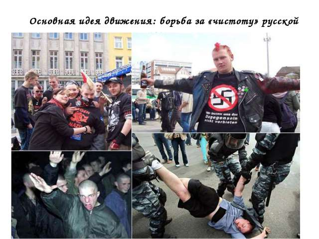 Основная идея движения: борьба за «чистоту» русской расы…