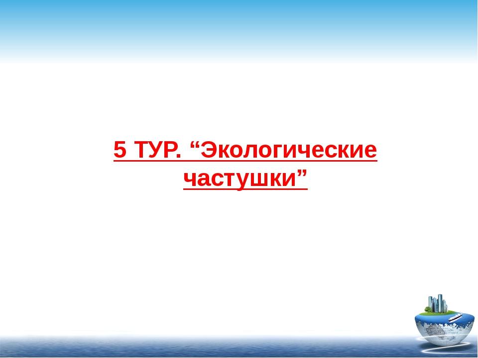 """5 ТУР. """"Экологические частушки"""""""
