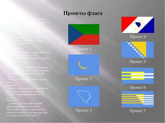 Проекты флага После Дейтонского соглашения стал вопрос выбора нового флага ст...