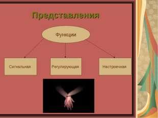 Представления Функции Сигнальная Регулирующая Настроечная