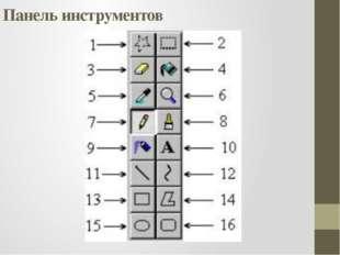 Панель инструментов