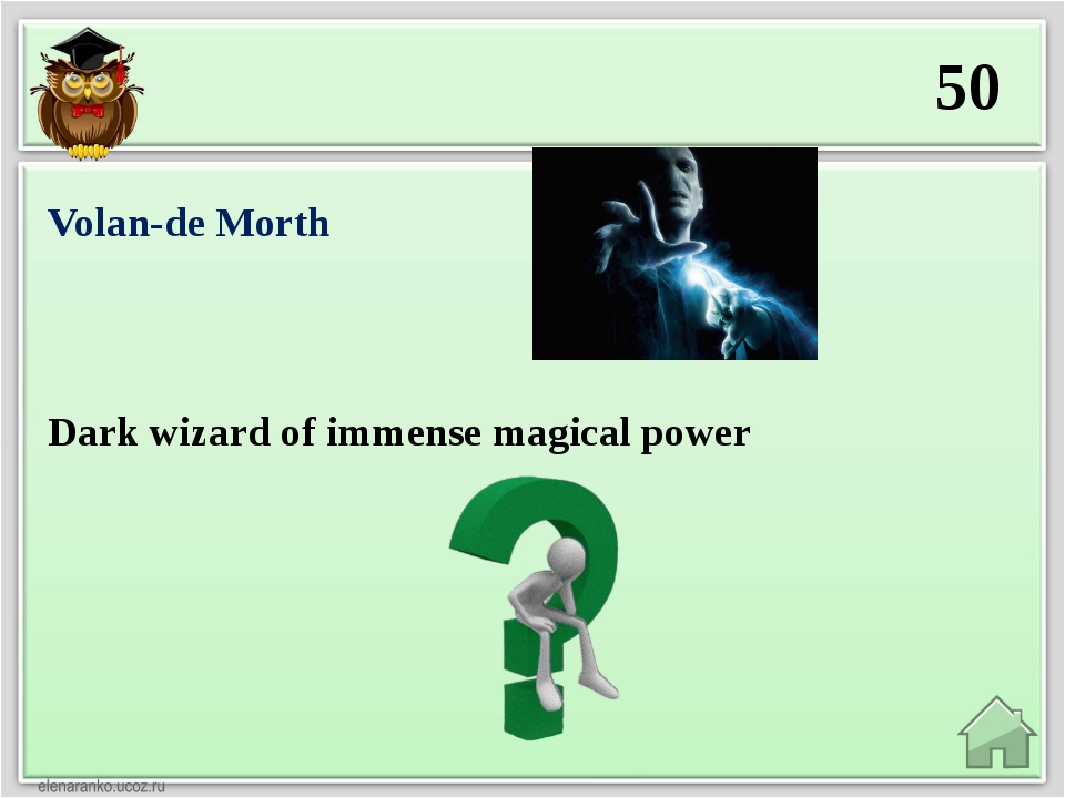 50 Dark wizard of immense magical power Volan-de Morth