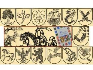 В гербах мы видим изображения животных реальных и мистических, деревья, травы