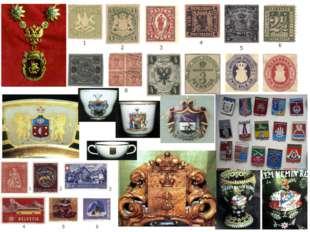 В геральдику входит и коллекционирование всего, что с ней связано: марок, отк