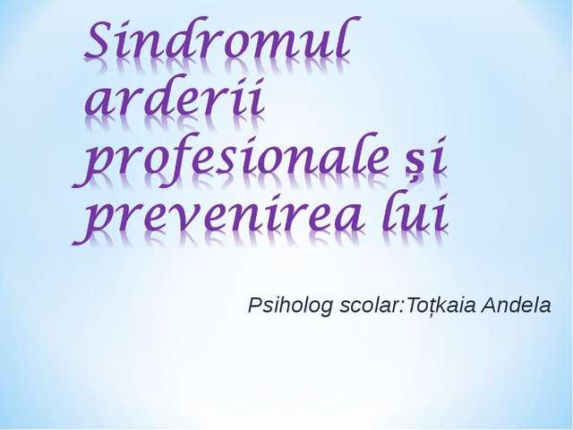 Psiholog scolar:Toțkaia Andela