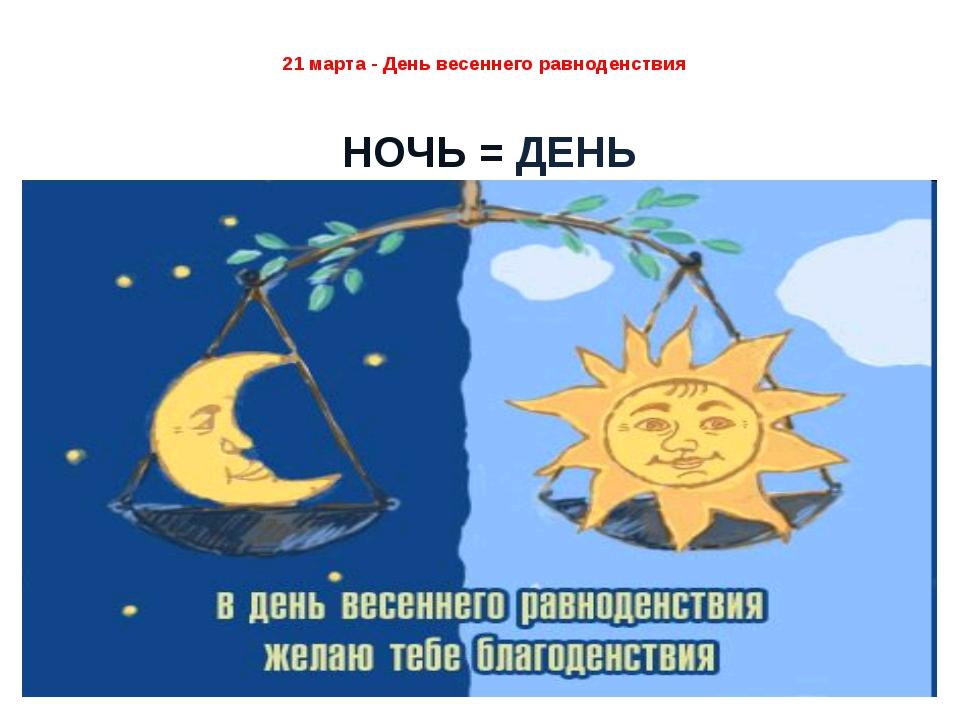 21 марта равноденствие поздравление временем