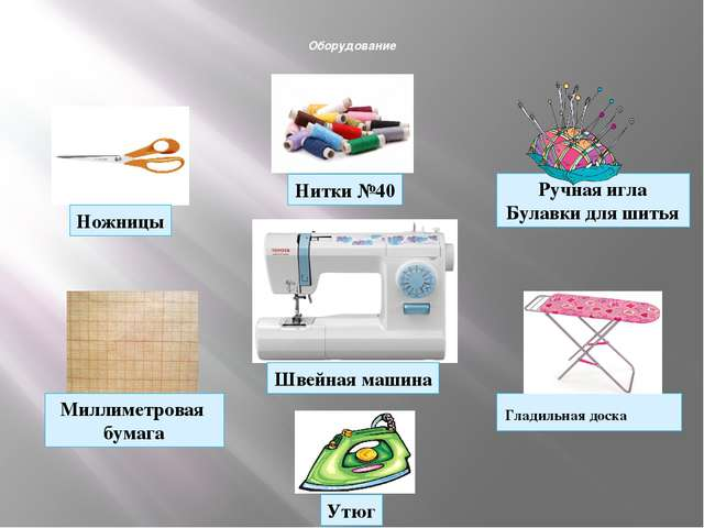 Оборудование Гладильная доска Нитки №40 Ручная игла Булавки для шитья Миллим...