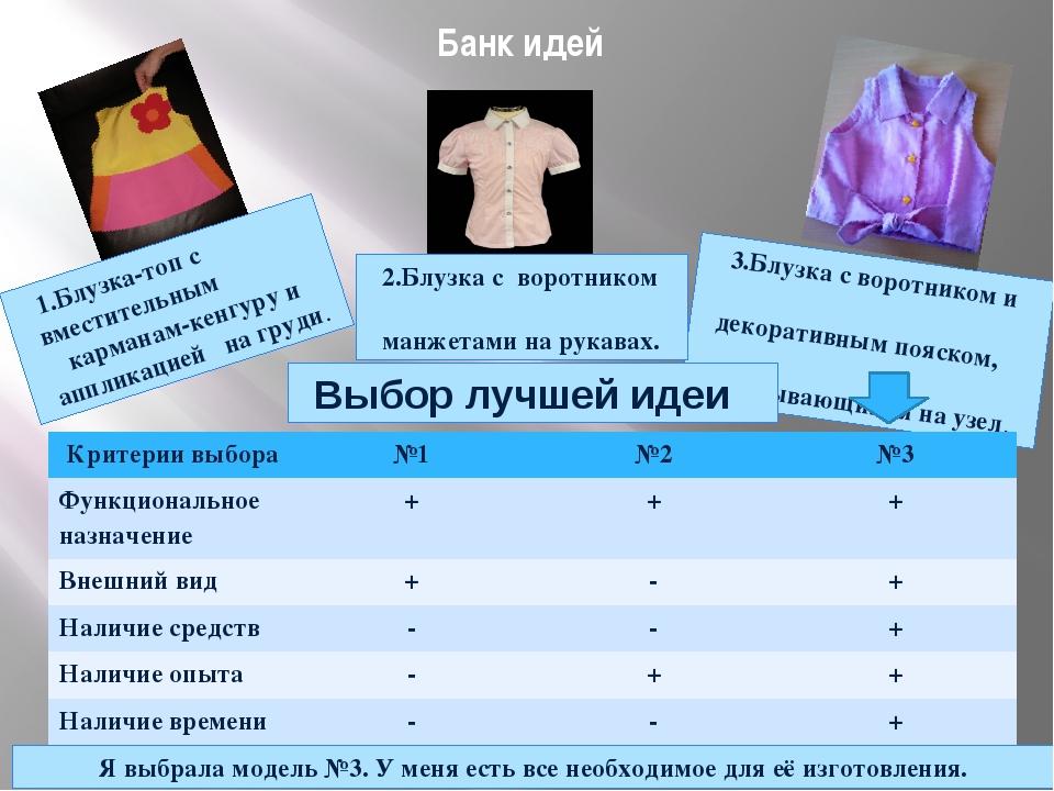 Банк идей 1.Блузка-топ с вместительным карманам-кенгуру и аппликацией на груд...