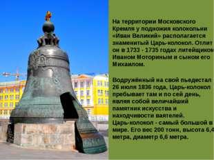 На территории Московского Кремля у подножия колокольни «Иван Великий» распола
