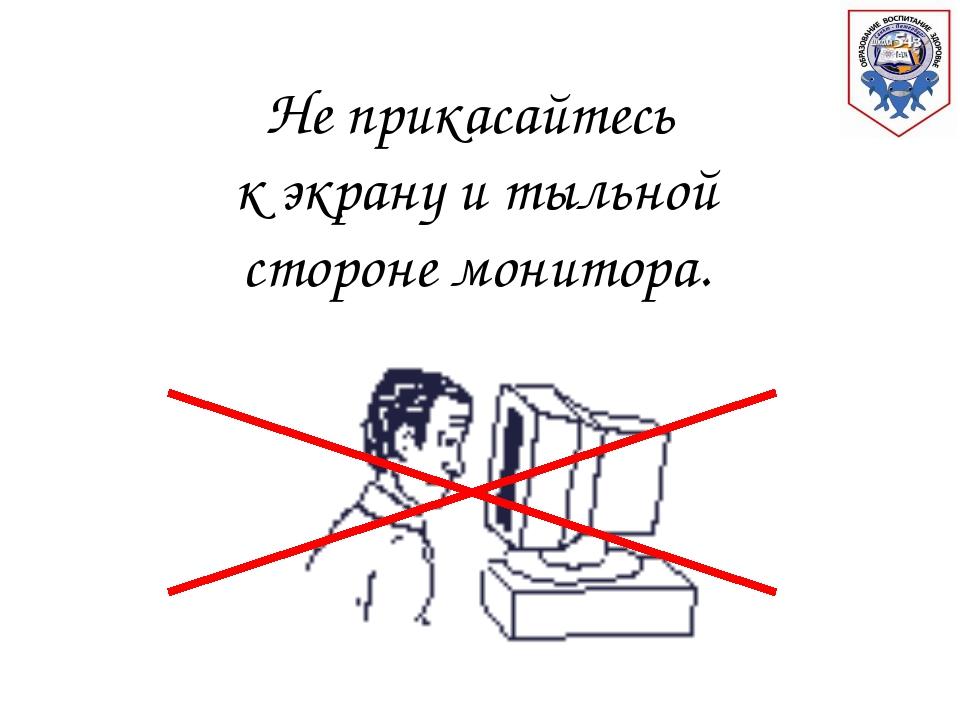 Не прикасайтесь к экрану и тыльной стороне монитора. г. Санкт - Петербург