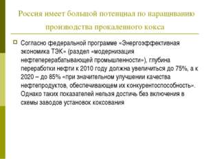 Россия имеет большой потенциал по наращиванию производства прокаленного кокса