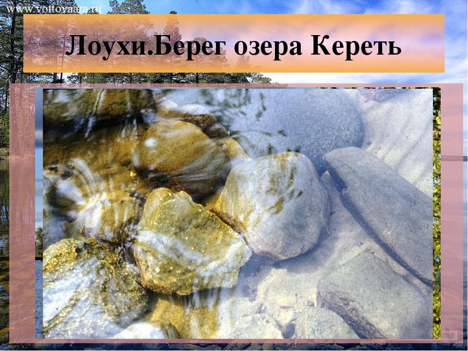 Лоухи.Берег озера Кереть