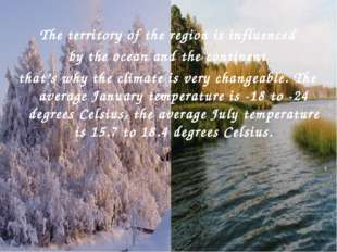 , The territory of the region is influenced by the ocean and the continent t