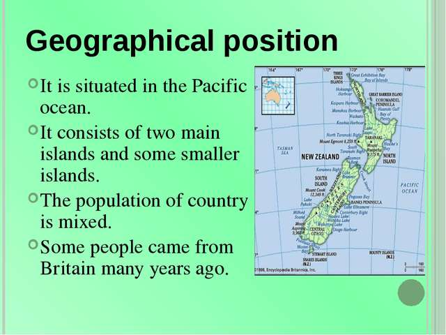 Geographical position It is situated in the Pacific ocean. It consists of two...