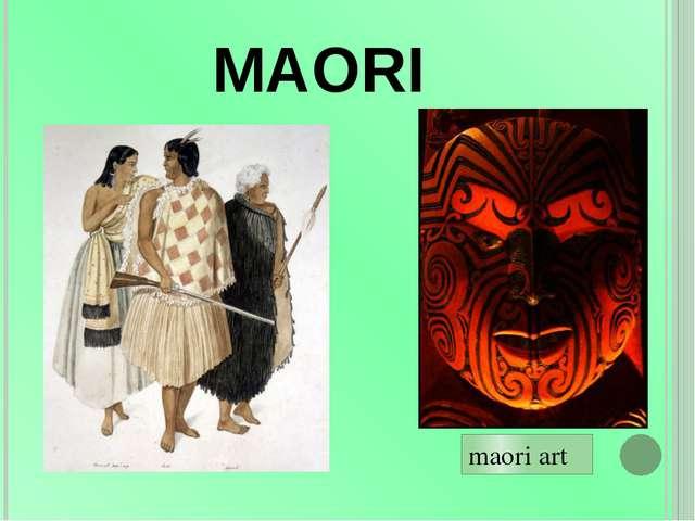 MAORI maori art