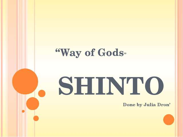 """Cultural effects Shinto has been called """"the religion of Japan"""", and the cust..."""