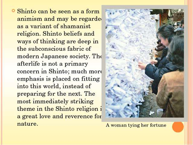 Types of Shinto Ko Shinto (古神道) is the oldest line of Shinto branches, a t...