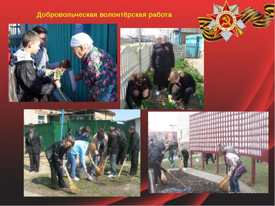 Добровольческая волонтёрская работа