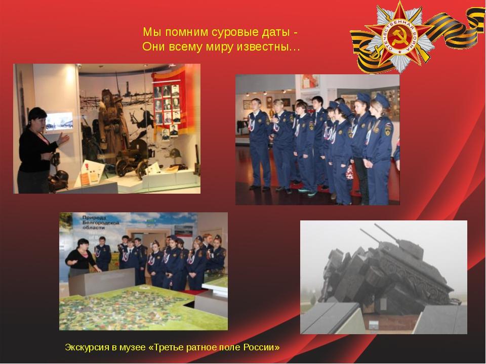 Мы помним суровые даты - Они всему миру известны… Экскурсия в музее «Третье р...