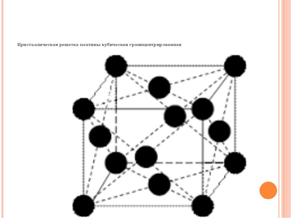 Кристаллическая решетка платины кубическая границентрированная