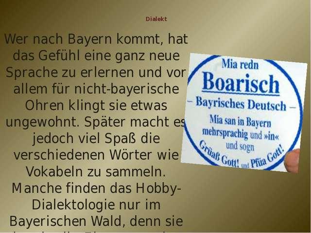 Dialekt Wer nach Bayern kommt, hat das Gefühl eine ganz neue Sprache zu erle...