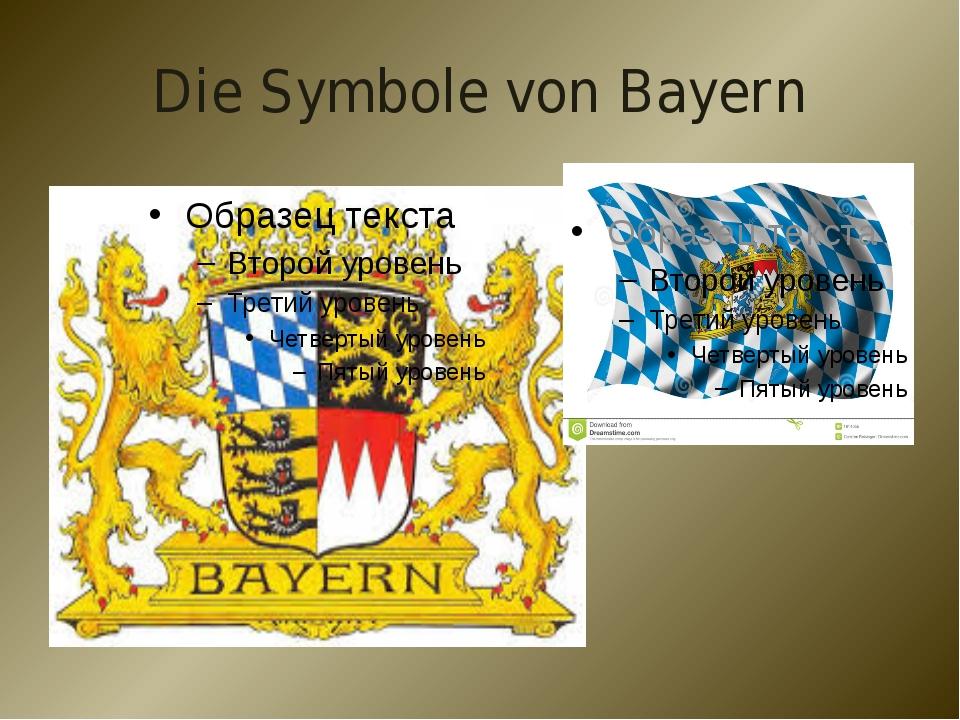 Die Symbole von Bayern
