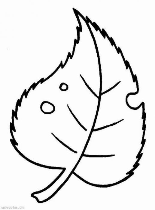 Листочек - Детские раскраски от Маргоши