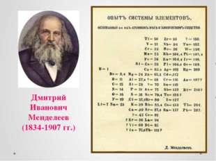 Дмитрий Иванович Менделеев (1834-1907 гг.)