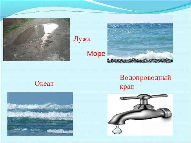 Лужа Море Океан Водопроводный кран