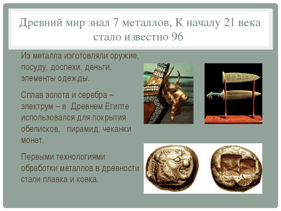 7 металлов древности доклад 8473