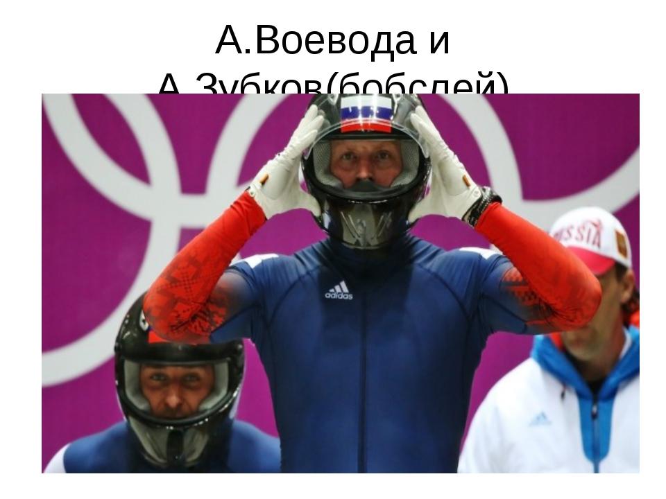 А.Воевода и А.Зубков(бобслей)