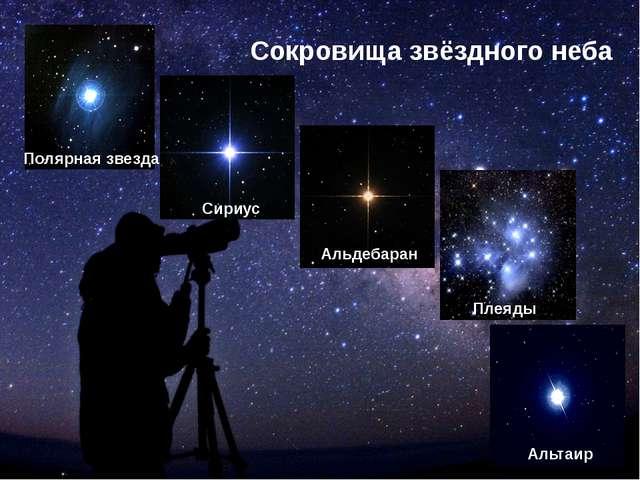 Сокровища звёздного неба Полярная звезда Сириус Альдебаран Плеяды Альтаир