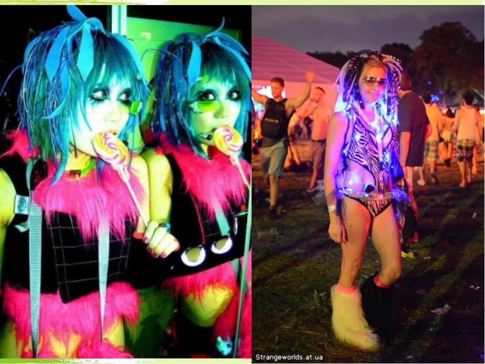 Рэйверы Рейверы в основном берут модель поведения завсегдатаев ночных клубов....