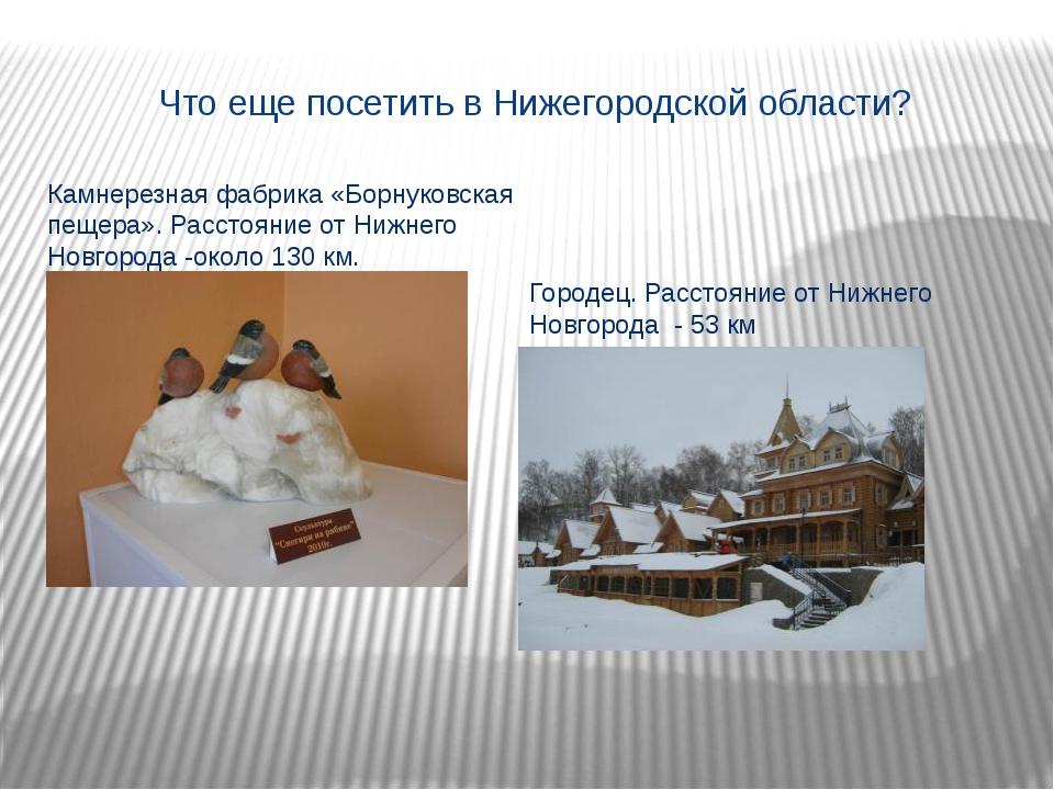 Что еще посетить в Нижегородской области? Камнерезная фабрика «Борнуковская п...