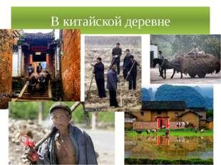 В китайской деревне