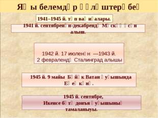 1941–1945 й. төп ваҡиғалары. 1941 й. сентябренән-декабрендә Мәскәү өсөн алыш.