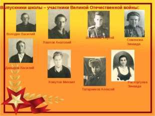 Выпускники школы – участники Великой Отечественной войны: Семенова Зинаида Ра