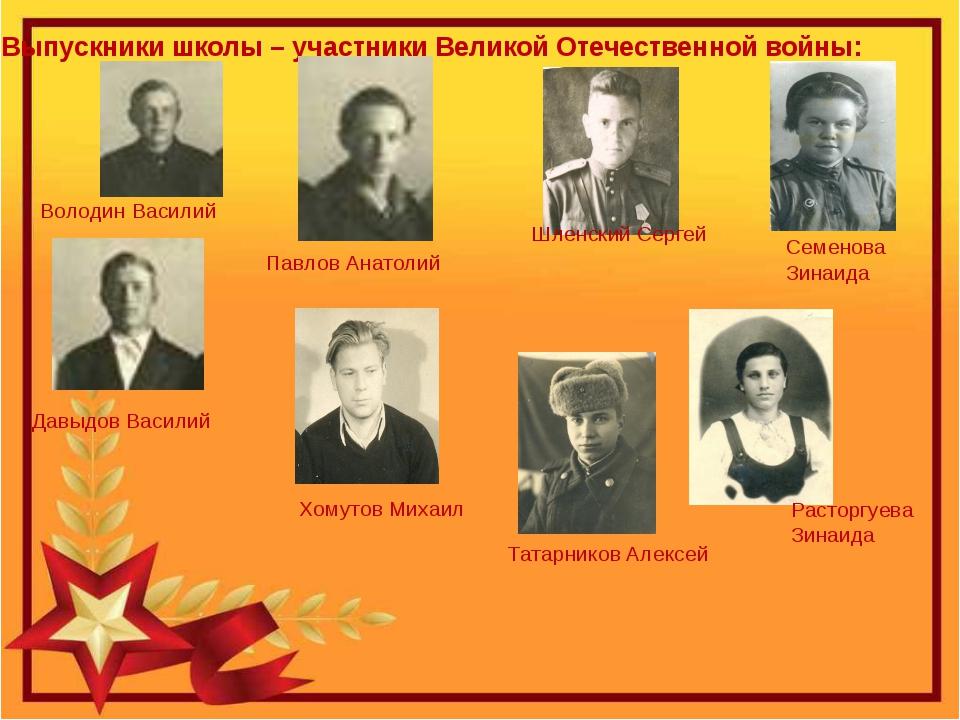 Выпускники школы – участники Великой Отечественной войны: Семенова Зинаида Ра...