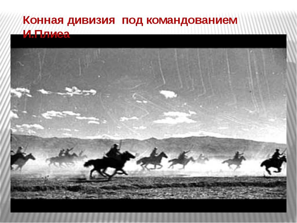 Конная дивизия под командованием И.Плиеа