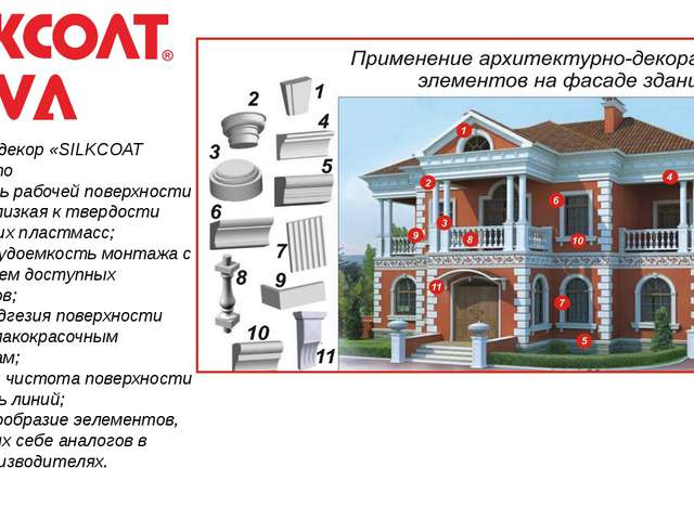 Фасадный декор «SILKCOAT SOVA»– это -твердость рабочей поверхности изделия,...