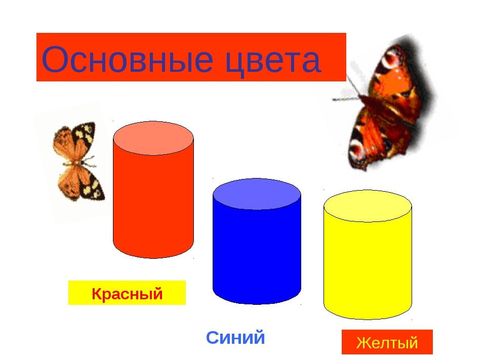 Основные цвета Красный Синий Желтый
