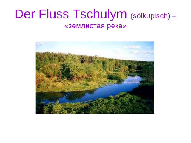 Der Fluss Tschulym (sölkupisch) – «землистая река»