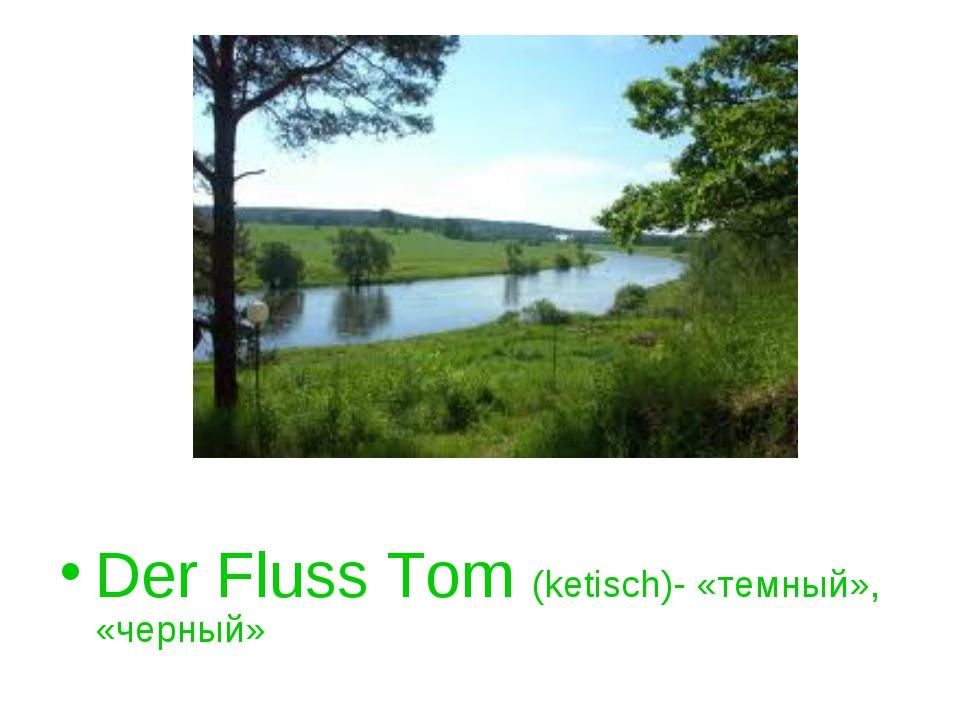 Der Fluss Tom (ketisch)- «темный», «черный»