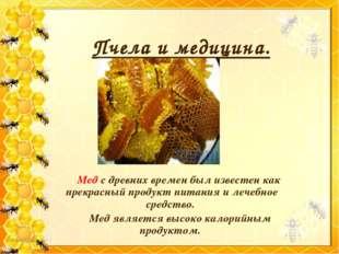 Пчела и медицина. Мед с древних времен был известен как прекрасный продукт п