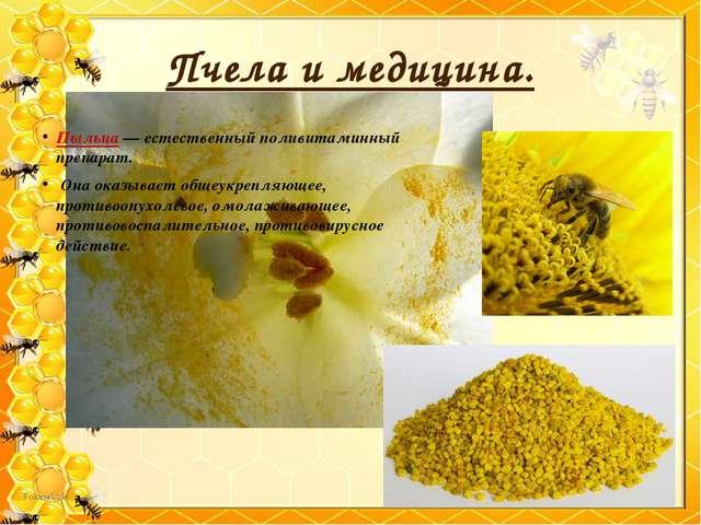 Пчела и медицина. Пыльца — естественный поливитаминный препарат. Она оказывае...