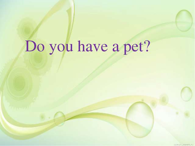 Do you have a pet?