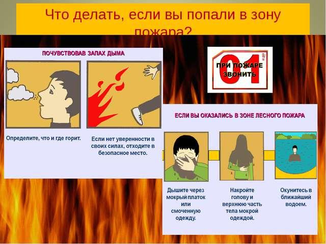 Что делать, если вы попали в зону пожара?
