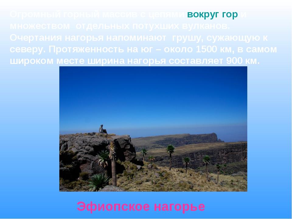 Огромный горный массив с цепями вокруг гор и множеством отдельных потухших ву...