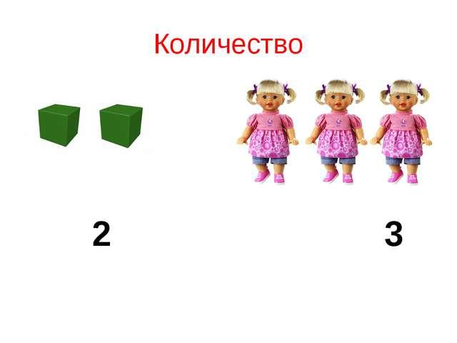 Количество 2 3