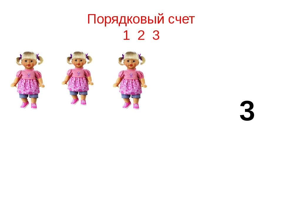 Порядковый счет 1 2 3 3
